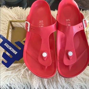 Birkenstock EVA Gizeh sandal in Coral